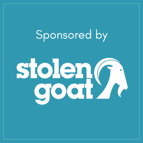 sponsored by stolen goat logo