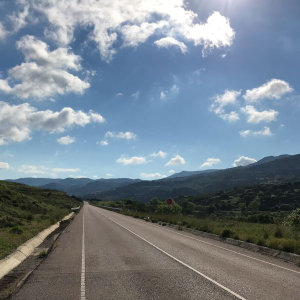 perfect road cycling road in Cyprus