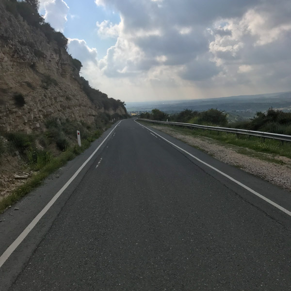 Great road surface in Cyprus