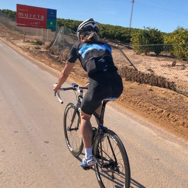 Cyclist cycling in Murcia