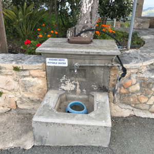 Water fountain in Cyprus