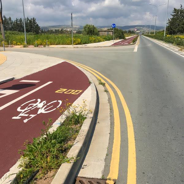 Bike path near Paphos, Cyprus