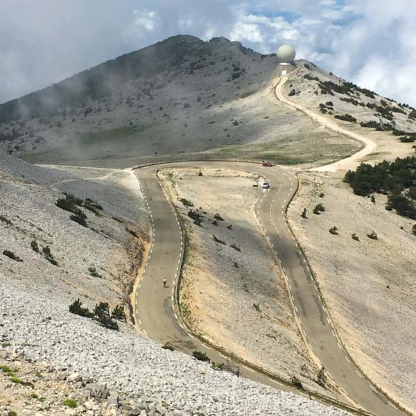 cycling up mount ventoux provence