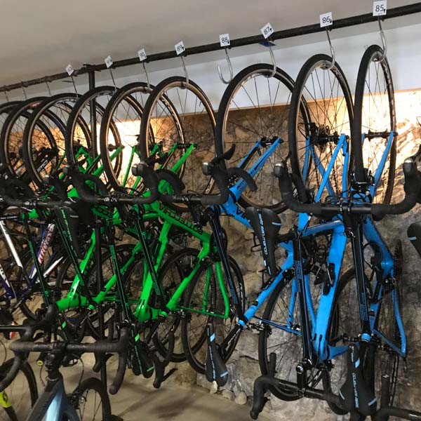 Bike room under the hotel Il perlo Panorama Italy
