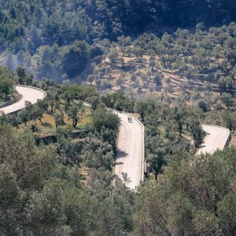 The iconic switchbacks of Mallorca's Col de Soller cycling climb, what the best cycling holidays Mallorca are made of