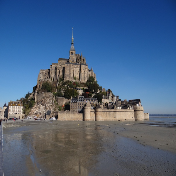 Famous Mont Saint Michel in Brittany, France