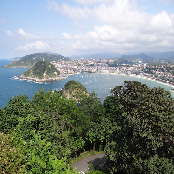 View over San Sebastian, Spain