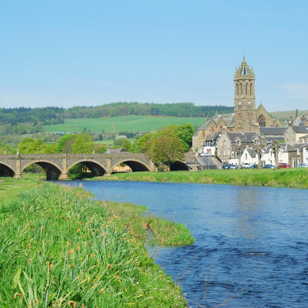 Peebles, on the Tour o the Borders Scottish cycling route