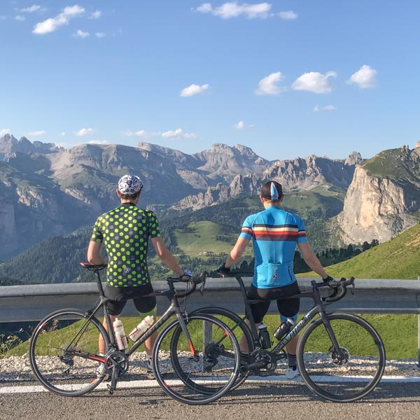 View from the top of the Passo Sella