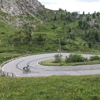 Climbing the Pordoi Pass, Italy