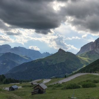 View from the summit of the Pordoi Pass, Dolomites