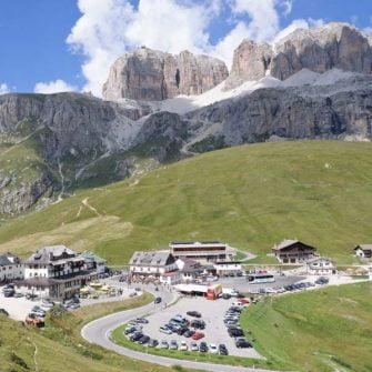 The summit of the Passo Pordoi
