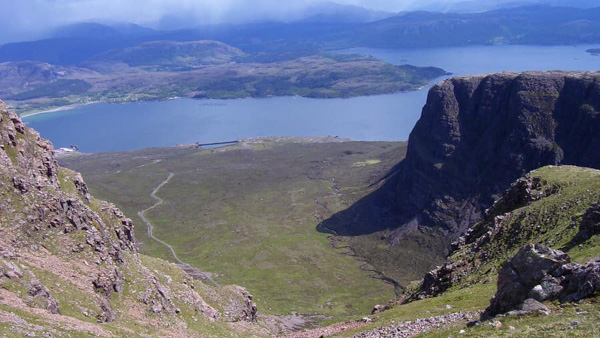 View from top of Bealach Na Ba, Scotland