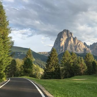 Road in the Dolomites - most of the asphalt doesn't look like this!
