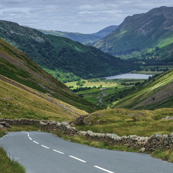 Descending over the Kirkstone Pass in the Lake District