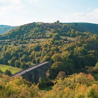 Monsal Trail for cyclists near Hassop Station in the Peak District