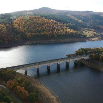 Ladybower reservoir in the Peak District