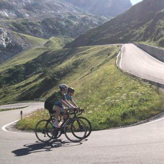 Cycling Passo Fedaia by bike Italian Dolomites