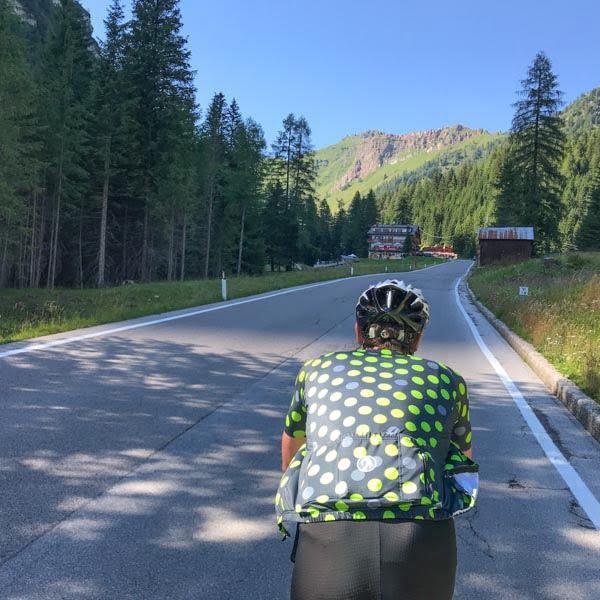 Cycling Passo Fedaia Italian Dolomites