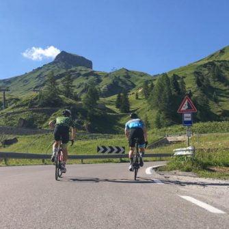 Climbing Passo Fedaia by bike, Italian Dolomites