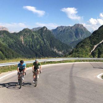 Cycling Passo Fedaia by road bike, Italian Dolomites