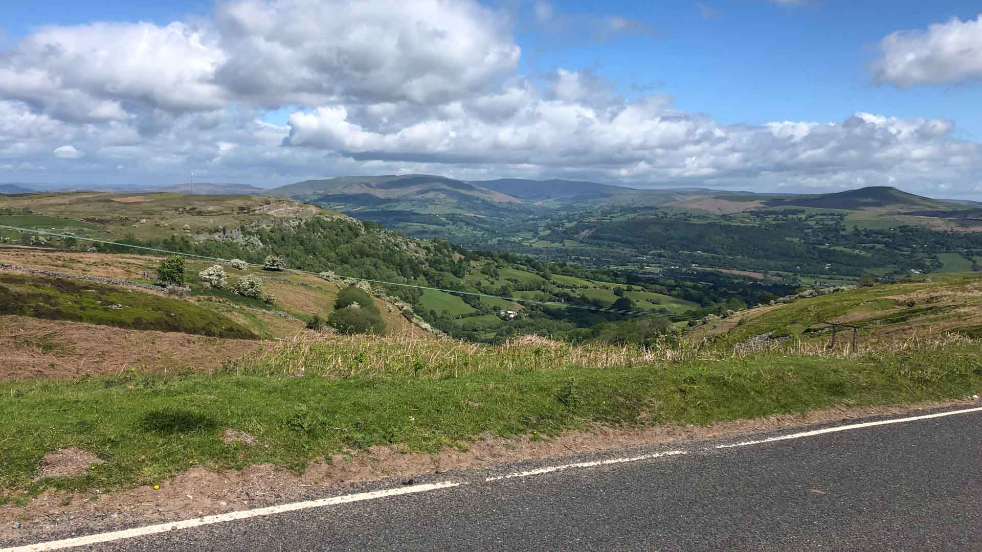 View from The Tumble, Wales climb