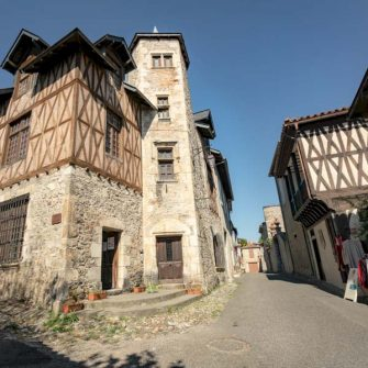 Village in the French Pyrenees cycling holiday destination