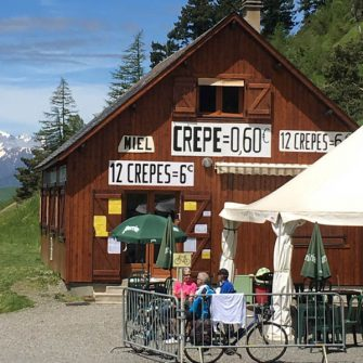 Crepe House restaurant on Col de Peyresourde, French Pyrenees