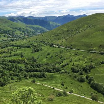 View back over the Col de Peyresourde, French Pyrenees