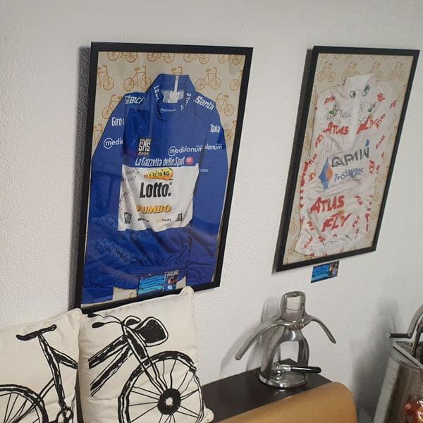 Tour de France memorabilia donated by pro teams