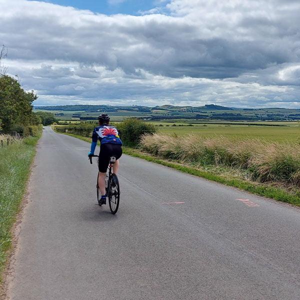 Cyclist near Edinburgh