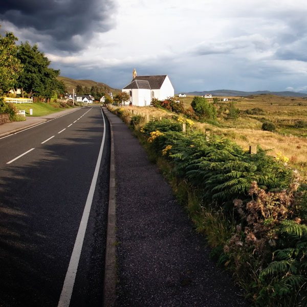 Cycling route in Scotland