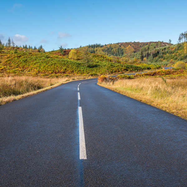 Duke's pass cycling climb in Scotland