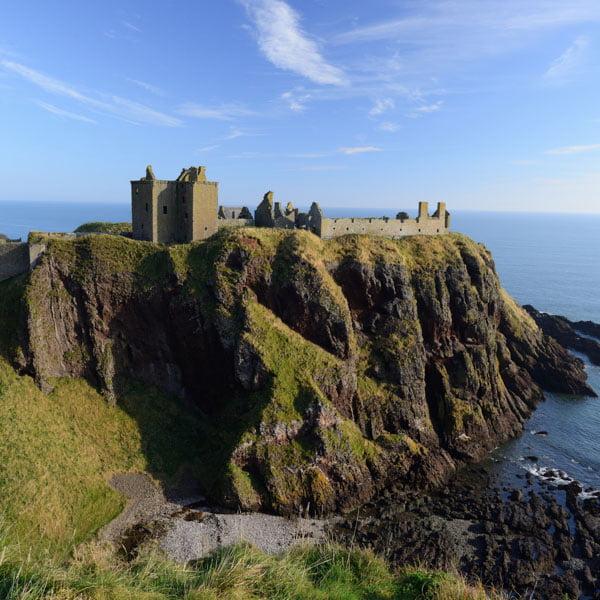 Dunottar castle near Aberdeen, Scotland a perfect cycling destination