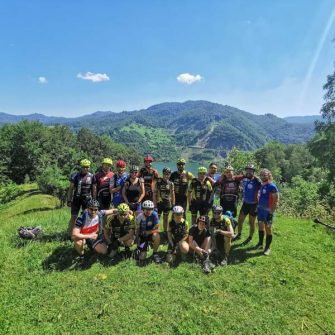 Group of road cyclists Romania