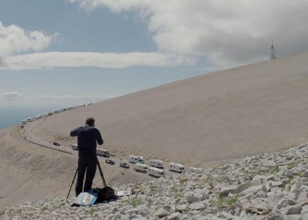Michael Blann shooting on Mont Ventoux