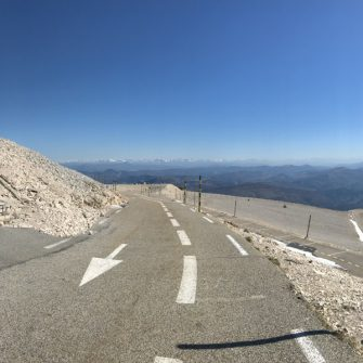 Final stretches of the cycling climb of Ventoux from Malaucene