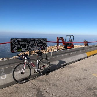 Roadworks at the top of Mont Ventoux