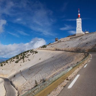 View of Mont Ventoux on the Cycle Ventoux challenge