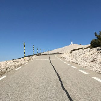 Classic view of the summit of Mont Ventoux from Beodin