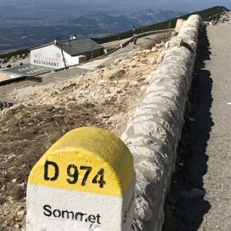 View back down just before roadworks on Bedoin side of Ventoux