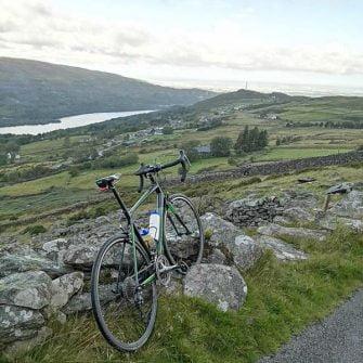 Bike on the Llanberis Pass climb