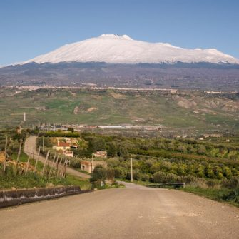 Mount Etna cycling route, Sicily, Italy