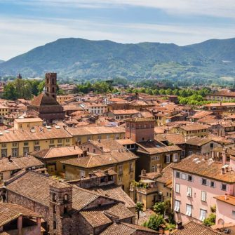 Lucca is a great base for cycling in Tuscany, Italy