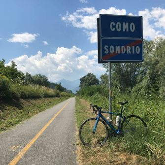 Cycling path Lake Como