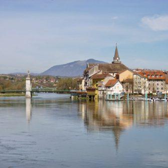 View across Lake Geneva Swirzerland