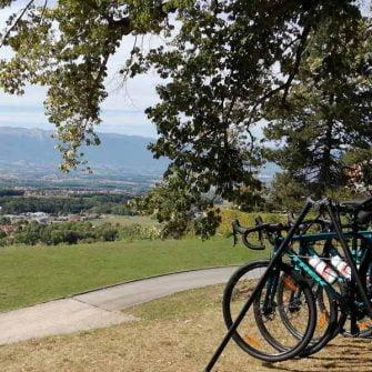 Bikes near Lake Geneva Switzerland