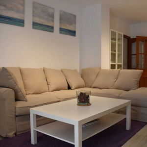 Living room in Calpe apartment for cyclists