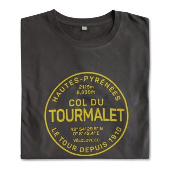 Tourmalet t shirt in grey with yellow writing