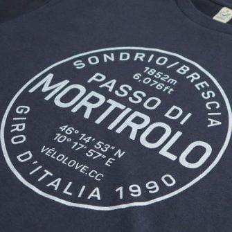 Close up of Mortirolo t shirt